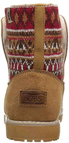 Skechers Bobs Alpine Snowday, Desert Boots Femme Beige (Csnt Marron)