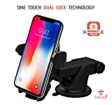 #2: Tantra Twist Smart Universal Mobile Stand For Car (Car Mount) With Quick One Touch Technology (Expandable & Rotatable) With Double Shift Locking For Windscreen, Dashboard & Table Desk (Black).