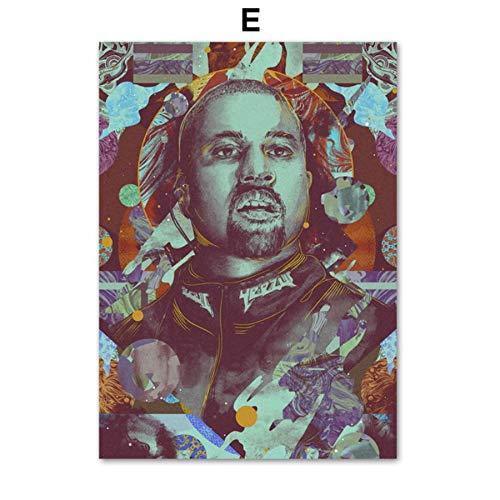 XWArtpic Grammy Award Adele Beyonce Rapper Sänger Stern Vintage Wandkunst Leinwand Malerei Nordic Poster Und Drucke Wandbilder Für Wohnzimmer Decor E 50 * 70 cm