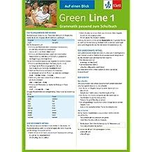 Green Line 1 - Auf einen Blick: Grammatik passend zum Schulbuch - Klappkarte (6 Seiten)