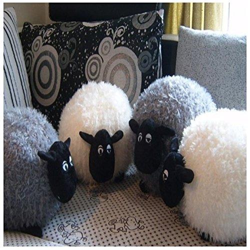 Preisvergleich Produktbild Kuschelkissen Schaf (Weiß) Kuschel Kissen Plüsch Tier Deko Dekokissen Plüschtier