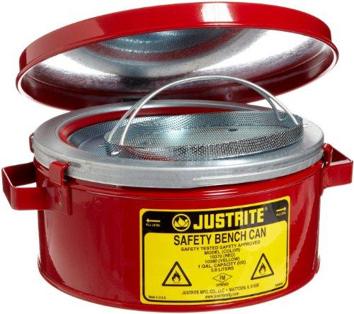 Justrite rot stahl selbstschliessende 1GAL Sicherheit kann–41/2in der Höhe–93/8in insgesamt Durchmesser–10370[Preis ist pro kann]