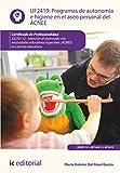 Programas de autonomía e higiene en el aseo personal del ACNEE. SSCE0112