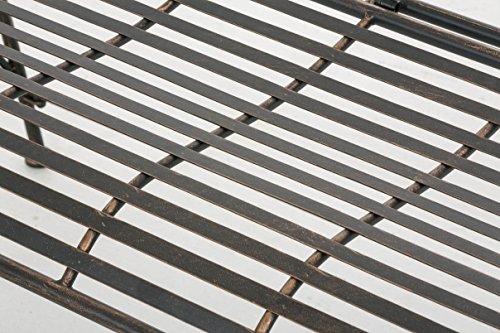 CLP Gartenbank ORKUN im Landhausstil, Eisen lackiert, 107 x 50 cm, 2er Sitzbank Bronze - 6