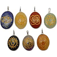 Harmonize Mehrfarbengroß Chakra ovale Form Lot von 7 Stück Chakra Symbol Spirituelle Geschenk Anhänger preisvergleich bei billige-tabletten.eu