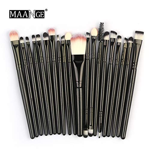 Makeup Brushes,Professionnelle Kits ,20Pcs / Set Ensemble De Pinceaux De Maquillage Outils De Maquillage Trousse De Toilette en Laine Makeup Brushes Brush Beauté Maquillage