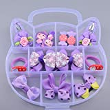 STAR WORK Mix Style Headwear Set Children Accessories Ribbon Bow with Full Covered Clips Hairpins for Girls Princess Crown Headdress (11 PCS HAIR KIT -PURPLE)