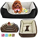 Yahee Hundebett Katzenbett Hundesofa Katzensofa Tierkorb Hundekorb Katzenkorb 5 Größe zum Wählen (XL, schwarz)