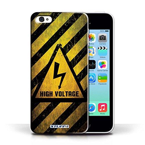 KOBALT® Hülle Case für Apple iPhone 5C | Hochspannung/Strom Entwurf | Warnung Zeichen Kollektion Hochspannung/Strom