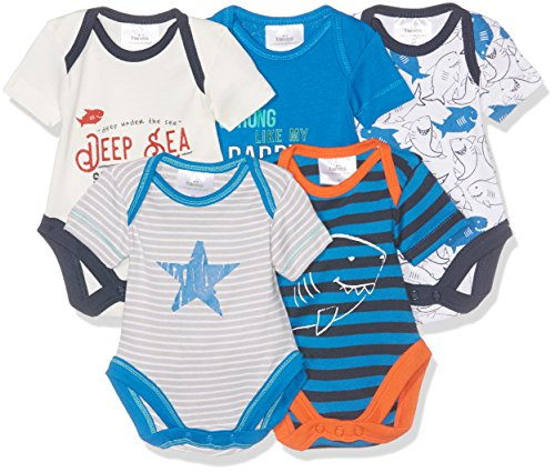 Twins Baby-Jungen Body 5er Pack, Mehrfarbig (Mehrfarbig 3200), 56