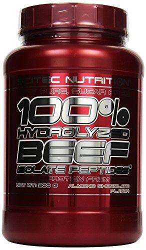 Scitec Nutrition Beef Isolat Peptides Mandel-Schokolade, 1er Pack (1 x 900 g)