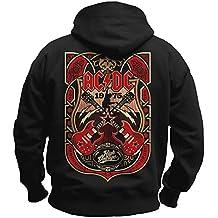 AcDc Offiziell Herren Pullover Logo Pulli Kleidung