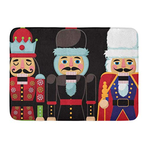 LIS HOME Bad Matte Bunte Frohe Weihnachten Nussknacker Cartoon DREI hölzerne Soldat Nussknacker Spielzeug Geschenke aus dem Ballett 10 Badezimmer Dekor Teppich