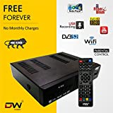 #4: Digiway Free To Air Dd Direct Dth Set Top Box (Dvb-S2, Mpeg-4, Full Hd With 2 USB Ports & Wi-Fi Via USB Wi-Fi Dongle)(No Monthly Recharge Required)
