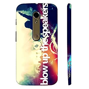 Motorola Moto X Style BLOW UP THE SPEAKERS designer mobile hard shell case by Enthopia