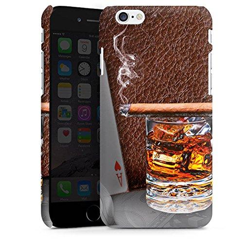 Apple iPhone X Silikon Hülle Case Schutzhülle Zigarre Whiskey Karten Premium Case matt