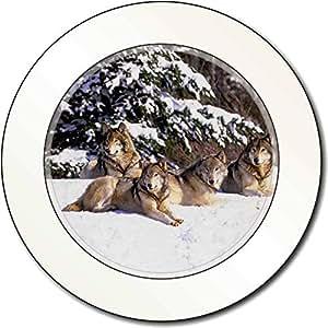 Wölfe im Schnee AutovignetteGenehmigungsinhaber Geschenk