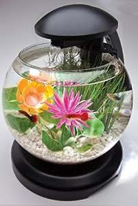 Tetra Waterfall Globe Aquarium Desk top aquarium kit, 1.8 gallons On/off button for light