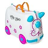 Valigia Per Bambini Trolley Bagaglio Perdo Cavalcabile Rigide (Bianco)