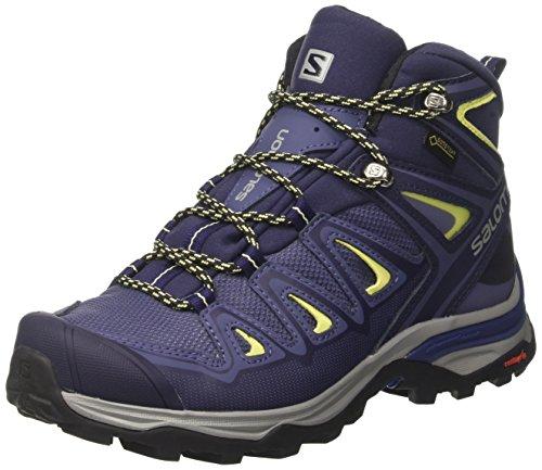 Salomon Damen X Ultra 3 Mid GTX W Kletterschuhe, Mehrfarbig (Crown Blue/EV Blue), 39 1/3 EU (Mid 2 Schuhe Skate)