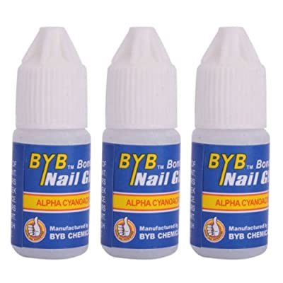 BestOfferBuy 3PCS Acrylic Nail Art Glue French False Tips Manicure Tool 3g