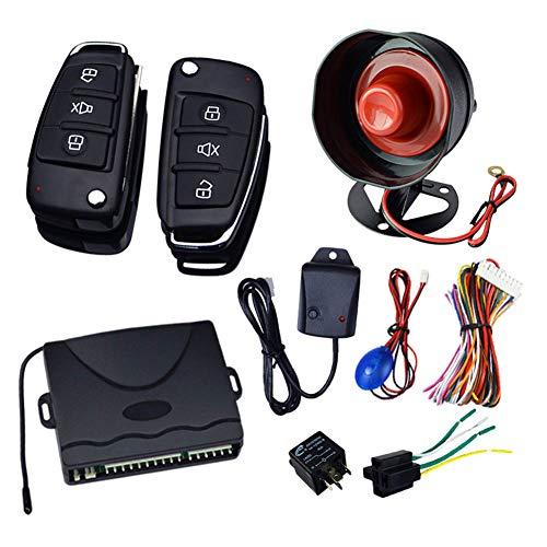 Wellouis 1Set Universal Car Security Alarm System Diebstahlsicherung mit Fernbedienung 12V
