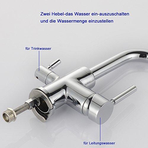 Homelody – Küchenarmatur mit Wasserfilter-Funktion, 360° drehbar, Chrom - 5