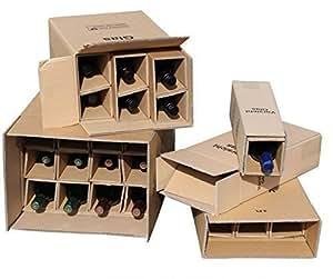 1x 1er flaschen versandkarton f r weinflaschen ups dhl. Black Bedroom Furniture Sets. Home Design Ideas