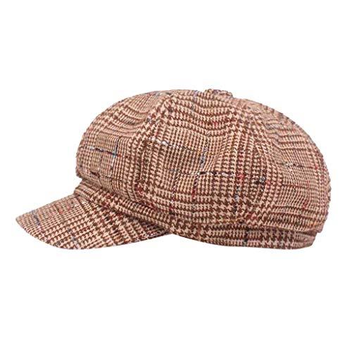Wildleder Newsboy Cap Hat (EERTX - ♛♛ Unisex Mode Flat Cap, Classic 'Shelby' Newsboy Cap Gatsby Baker Boy Hat Tweed for Damen Herren)