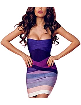 HLBandage Women's Sexy Strapless Mini Bodycon Bandage Dress
