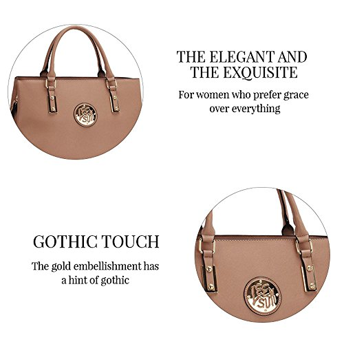 TrendStar Frauen Neuer Entwerfer Handtaschen Damen Berühmtenart Kunstleder Taschen Grau