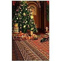 Uonlytech Foto de Navidad Fondo de Pared Contexto Accesorios de Estudio Decoraciones para Fiestas de Navidad 150x200cm
