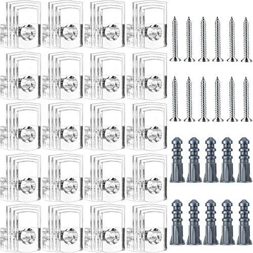 Kunststoff Spiegel Halter Clips Clips Spiegel Hänge-Kit 1/4 Zoll für Wand 25 kg ()