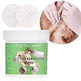 Toallitas Limpiadoras de Oído para Perros y Gatos, Oreja para Mascotas Toallitas Especiales Gato Perro Cera para los oídos Toallas de Papel húmedas y limpias Mascotas Orejas Artículos de Limpieza