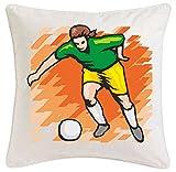 funda de la almohada 40x40cm fútbol Mega Sports Hobby Ocio Deportes Club de microfibra ... regalo ideal y la decoración de buen gusto para cada salón o el dormitorio