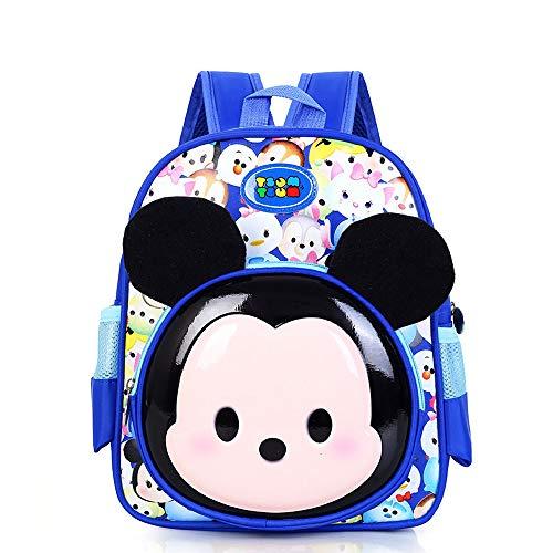 Mickey Schultasche für Kinder Kindergarten-Schultasche Rucksack Mode Ultraleicht Freizeit Junge Mädchen Rucksack für Outdoor Sports Camping Picknick Rucksäcke 3-6 Grade (2)
