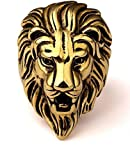 StoresHub Stainless Steel Roaring Lion Head Unique Design Ring for Men and Boys