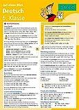 PONS Super in... Deutsch 6. Klasse auf einen Blick: Die kompakte Übersicht für das ganze Schuljahr. 6 Seiten laminiert zum Aufklappen