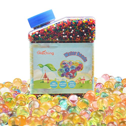 Perle Pflanze (Wasserperlen 260g (40,000pcs) Riesige Jelly Wasser Perlen Regenbogenfarbige Mischung für Hochzeit und Wohndekoration, Pflanzen Vase Füller)