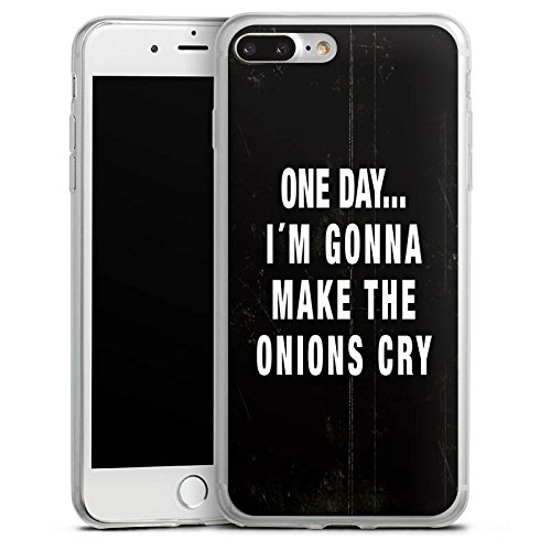 Apple iPhone 8 Plus Slim Case Silikon Hülle Schutzhülle Statement Lustig Sprüche Silikon Slim Case transparent