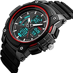 SKMEI Dual Time Multifunction Chronograph Analog-Digital Wrist Watch for Men