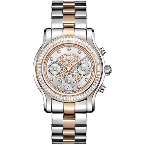 JBW Luxury Women's Laurel Diamond & Crystal Wrist Watch with Stainless Steel Link Bracelet