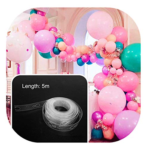 tstoff Transparent Ballon Kette Band Arch Verbinden Streifen für Hochzeit Geburtstag Party Decor ()