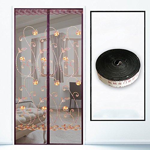 kele Magnetische Schirmtür Sommer, Home High-Grade Magnetische Verschlüsselung Mückendicht Fliegen Belüftung Bildschirm-Fenster Salmonellen Leise-A 80x220cm(31x87inch)