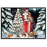 40x30cm 5D Embroidery Paintings Weihnachten Cross Stitch Wall Decorations with Full Flap Diamond Picture Rhinestone Sweet Home Embroidery Painting DIY Diamond Painting Cross Stitch Kit