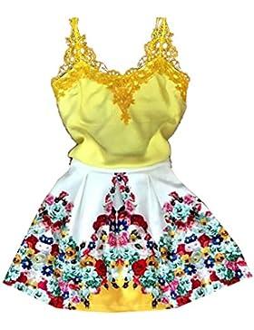 Mujer Vestidos de Verano Playa Sin Mangas Vestidos de Cóctel Noche Fiesta Mini Vestido con Escote V Suave Cómodo...