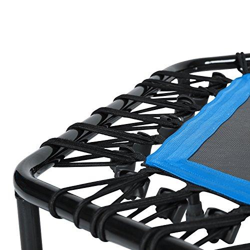 SportPlus Fitness Trampolin, Bungee-Seil-System, Ø 110 cm, bis 130 kg Benutzergewicht, TÜV Süd Sicherheit geprüft, blau - 4
