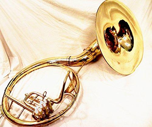 Indische handgefertigt Messing Finish 55,9cm Sousaphon aus Messing Tuba Mundstück mit Tasche