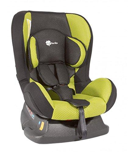 Autokindersitz Premium Deluxe von UNITED-KIDS, schwarz-grün, mit atmungsaktivem Stoffbezug, NEUHEIT!, Gruppe 0+/I, 0-18 kg, Farbe:Schwarz-Grün