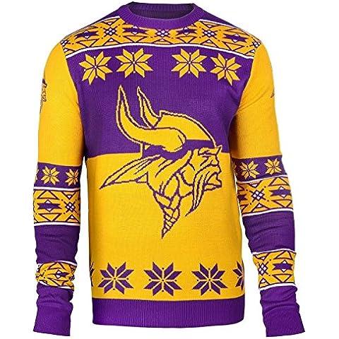 Minnesota Vikings grandes Logo cuello redondo NFL feo Sweater, small